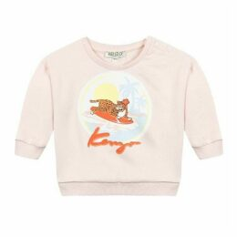 Kenzo Baby Girl Sweat Shirt Old Pink