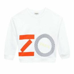 Kenzo Kid Girl Sweat Shirt White