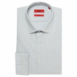 Hugo Jenno Slim Fit Broken Grid Print Shirt