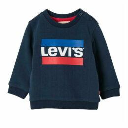 Levis Dark Blue Baby Boy Sweat Shirt