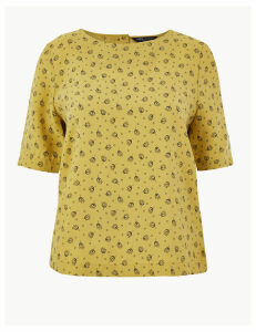 M&S Collection Printed Shell Top