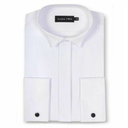 Double Two King Size Ribbed Piqué Dress Shirt