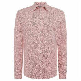 Michael Kors Mini geo print slim fit shirt
