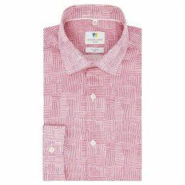 Richard James Irreguar Lines Printed Slim Fit Shirt