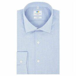 Richard James Puppytooth Gingham Slim Fit Shirt