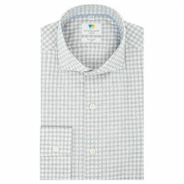 Richard James Melange Check Slim Fit Shirt
