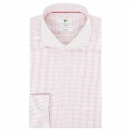 Richard James Dobby Hairline Check Slim Fit Shirt