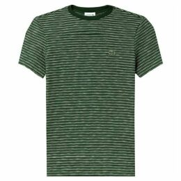 Lacoste Crew Neck Striped Flamme Cotton Jersey T-Shirt