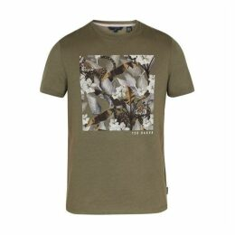 Ted Baker Forge Floral Graphic Cotton T-Shirt