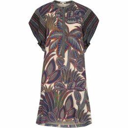 Whistles Palm Print Shirt Dress