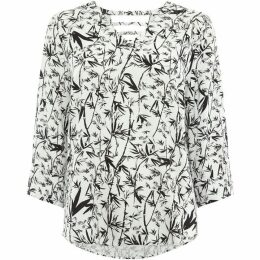 Label Lab Bamboo Print Sally Back Woven Top