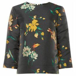 Biba Jacquard floral boxy top