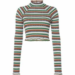 Free People Mirror Stripe Knitted Top