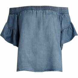 All Saints Adela Chambray Top