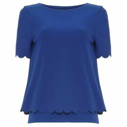 Phase Eight Satu Scallop Double Layer Top