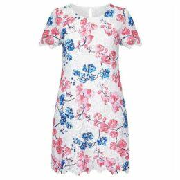 Yumi Blossom Print Lace Tunic