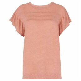Whistles Pintuck Frill Sleeve Top