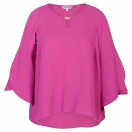 Chesca Crepe Top With Wrap Sleeve Detail