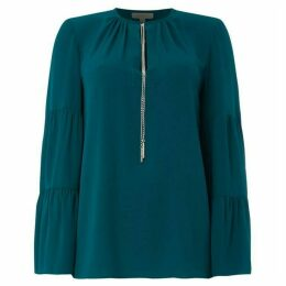 MICHAEL Michael Kors Tier sleeve chain neck top