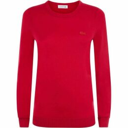 Lacoste Women`s Crew Neck Wool Jersey Sweater