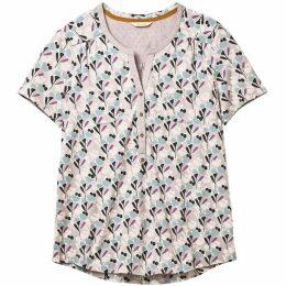 White Stuff Shiny Penny Jersey Shirt