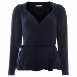 Fashion Union Wrap top with knot detail