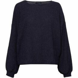 French Connection Willow Jersey Cropped Long Sleeve Top