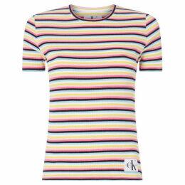 Calvin Klein Jeans Striped Rib T-Shirt