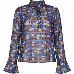 Yumi Abstract Square Flower Top