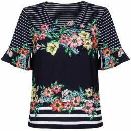 Yumi Striped Floral Top