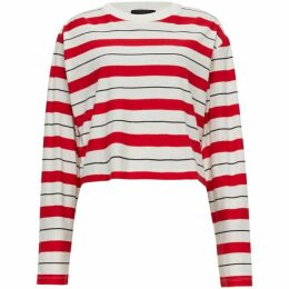 All Saints Benno Long Sleeve Stripe T-Shirt