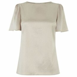 Oasis Hammered Satin Angel Sleeve Top