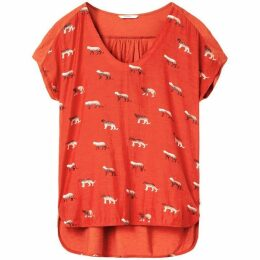 Sandwich Small Printed Leopard Top