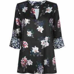 James Lakeland Floral Leopard Top