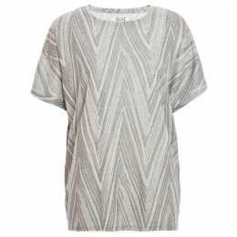 Quiz Grey Zag Batwing Top