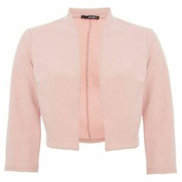 Quiz Pink three quarter Sleeve Crop Jacket