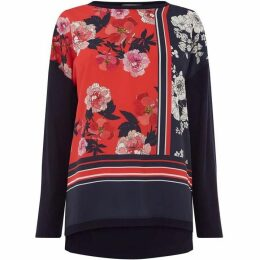 Oasis Floral Placement Woven Top