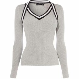 Karen Millen Sporty Ribbed Top