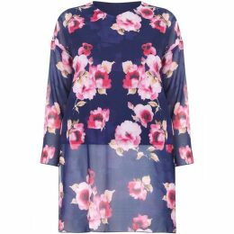 Mela London Curve Floral Printed Side Split Tunic