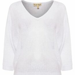 Phase Eight Delmi V Neck Linen Batwing Top