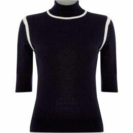 Max Mara Studio Loris short sleeve high neck sweater
