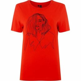 Vero Moda Sketch Detail T-Shirt