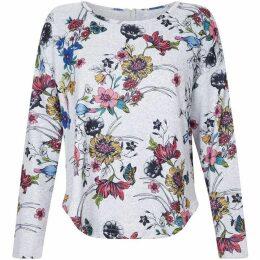Yumi Bird Print Long Sleeve Top