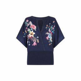 Yumi Floral And Flamingo Knitted Kimono