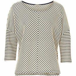 Betty Barclay Chevron stripe textured top