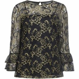 Dorothy Perkins Tall Lace Flute Sleeve Top