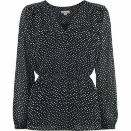 Whistles Confetti Heart Print Tie Top