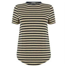 Oasis Dip Hem Stripe Formal Tee