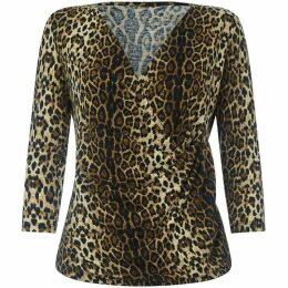 Yumi Leopard Print Wrap Top
