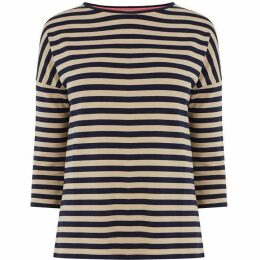 Oasis Supersoft Stripe Drop Sleeve Top